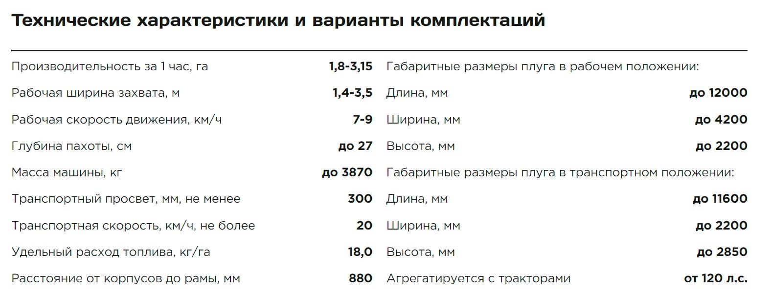 «Сириус» ПОМ-4/7 плуг модульный